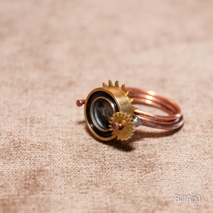 Кольцо Цилиндр с сиянием и звездой (Фото 3)