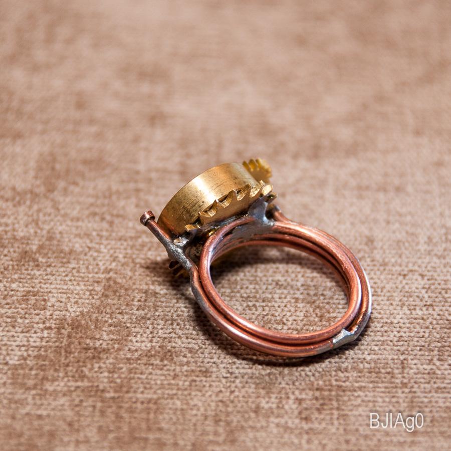 Кольцо Цилиндр с сиянием и звездой (Фото 4)